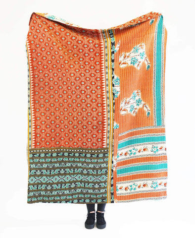 Kantha Throw Quilt - No. 190334 | Anchal Project