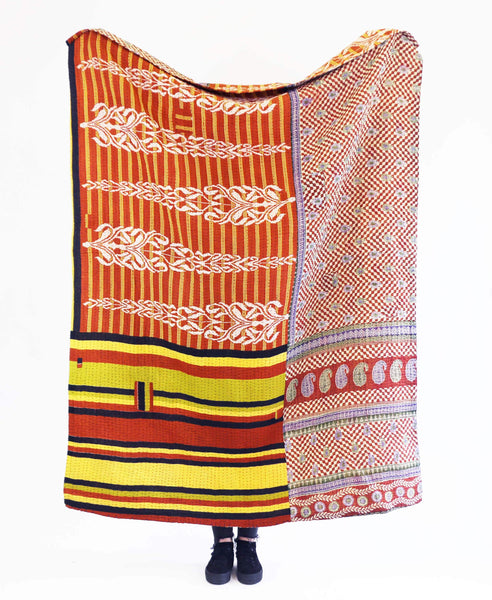 Kantha Throw Quilt - No. 190337 | Anchal Project