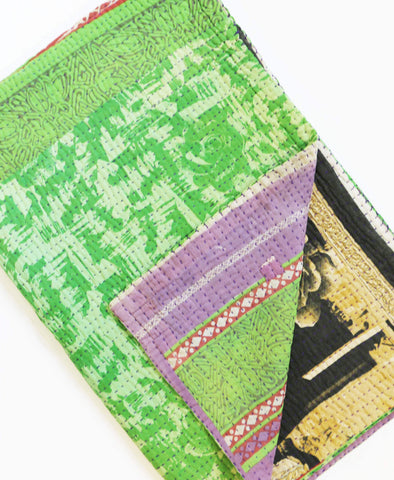 Kantha Throw Quilt - No. 190339 | Anchal Project