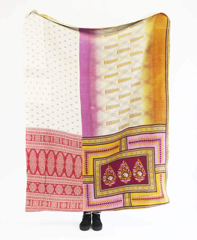 Kantha Throw Quilt - No. 190349 | Anchal Project