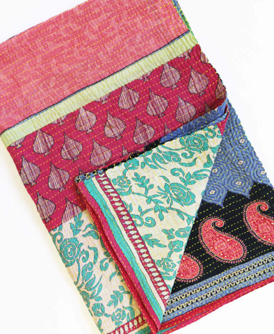 Kantha Throw Quilt - No. 190352 | Anchal Project