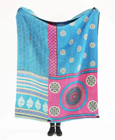 Kantha Throw Quilt - No. 190355 | Anchal Project