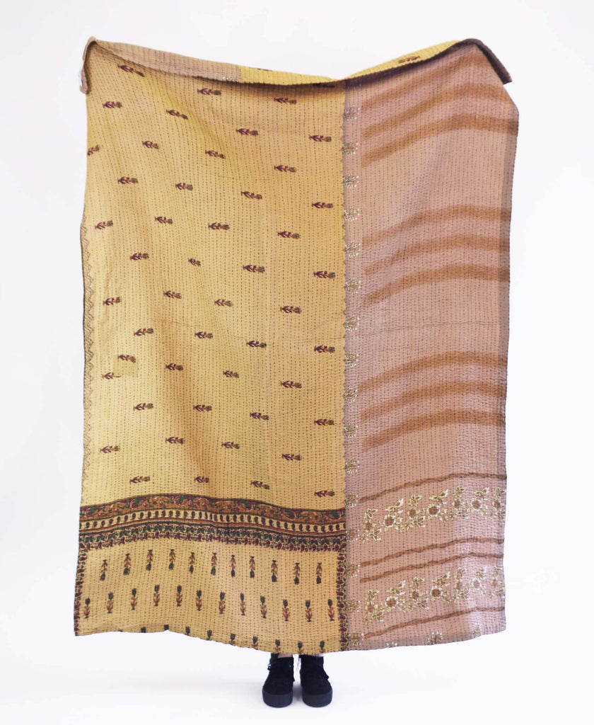 Kantha Throw Quilt - No. 190359 | Anchal Project