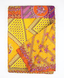 Kantha Throw Quilt - Purple and Orange Blossom | Anchal Project