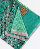 King Kantha Quilt - Teal Medallion | Anchal Project