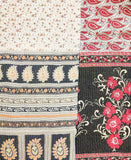 Kantha Throw Quilt - Red and Black Paisley | Anchal Project
