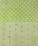 Kantha Throw Quilt - Green Swirl | Anchal Project