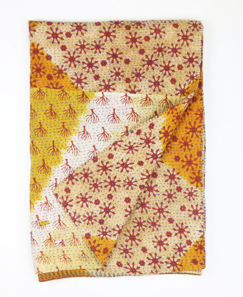 ethical kantha quilt