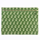 Large Kantha Pouch - Green Palm Leaves