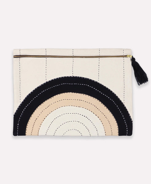 Organic Cotton Canvas Large Zipper Pouch -  Eclipse | Anchal Project