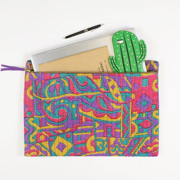Large Kantha Pouch - Nineties Bel Air