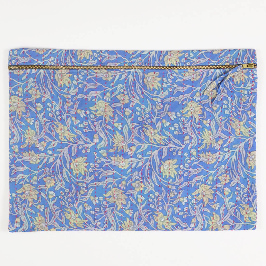 Kantha Oversized Pouch Clutch - No. 180506