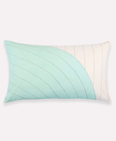 Mint Curve Lumbar Pillow - Mint | Anchal Project