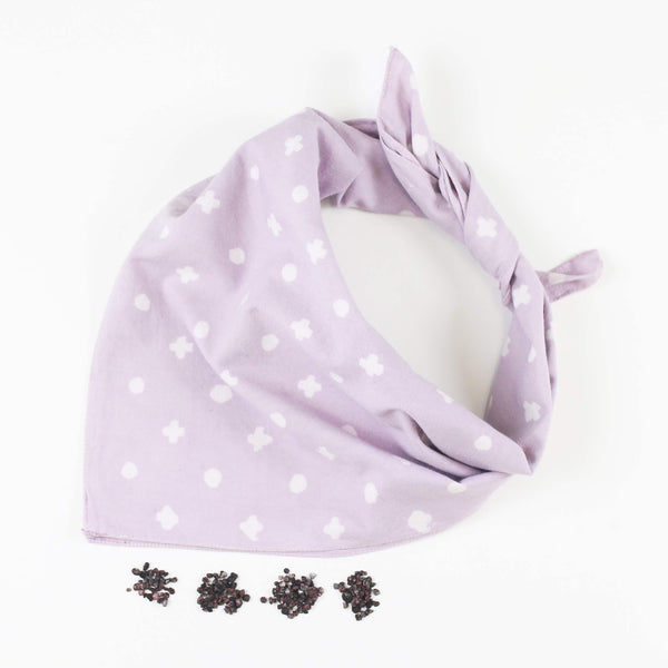 Naturally Dyed Cotton Bandana - Cochineal