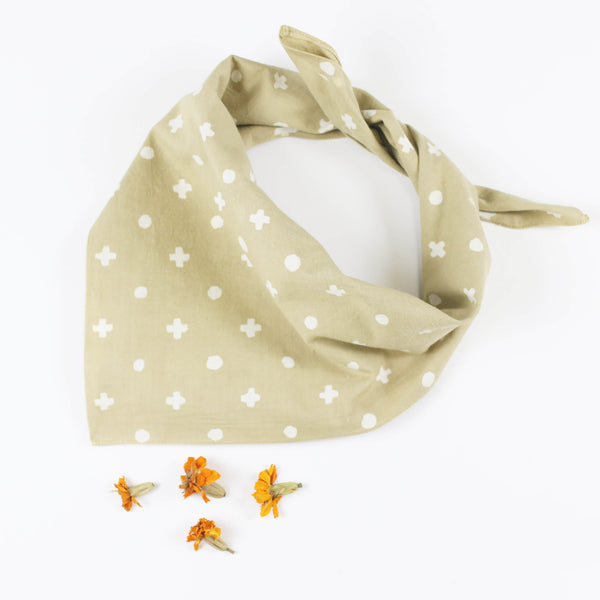 Naturally Dyed Cotton Bandana - Marigold