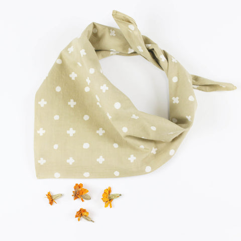 Naturally Dyed Bandana - Marigold