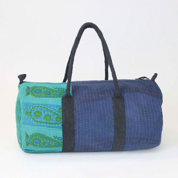 Teal and Indigo Overdyed Hand-Stitched Bag