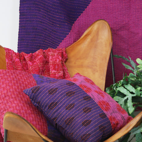 Fuchsia Overdyed Pillow Lifestyle