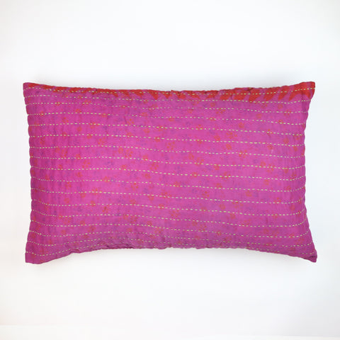 Fuchsia Overdyed Hand-Stitched Pillow