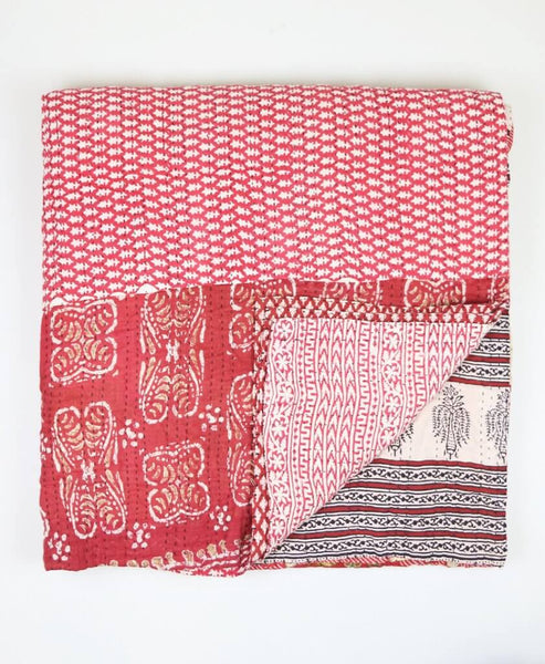 Queen Kantha Quilt - Ruby Lily | Anchal Project