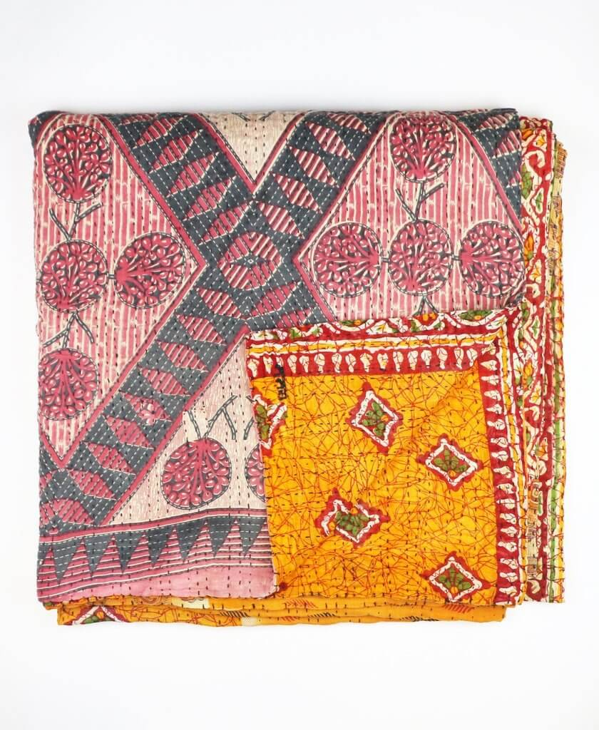 Quilted Bedding | Fair Trade and Eco-Friendly | Anchal Project : orange quilt - Adamdwight.com
