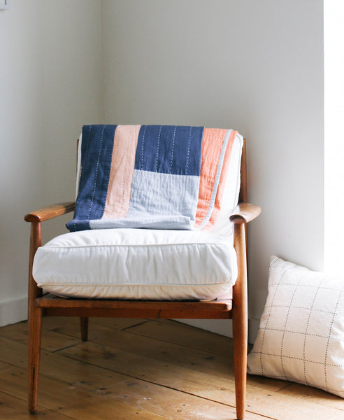Organic Cotton Hand-Stitched Quilt
