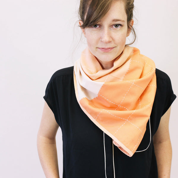 Organic Hand-Stitched Square Scarf