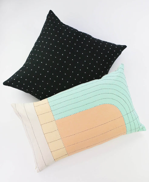 Seema Lumbar Pillow - Paired with Black Pillow | Anchal Project