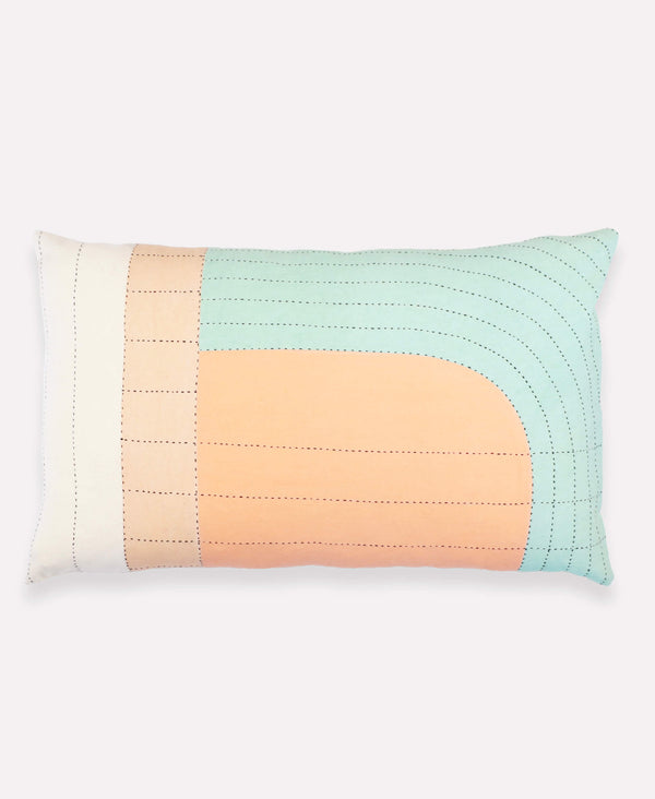 Anchal Project Seema lumbar throw pillow made with organic cotton