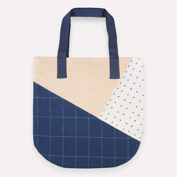 Hand Stitched Slate Canvas Tote - Slate | Anchal Project
