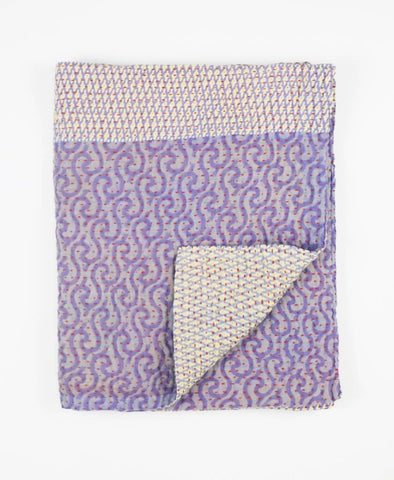 Small Kantha Throw - Lavender Waves | Anchal Project