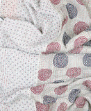 Small Kantha Quilt - Grey Swirls | Anchal Project