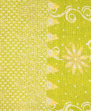 Small Kantha Quilt - Lime Green Dahlia | Anchal Project