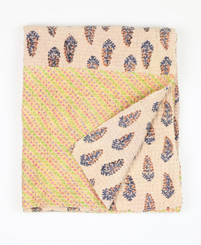 Small Kantha Quilt - Sand Feather | Anchal Project