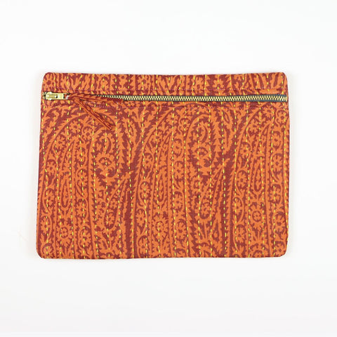 Small Kantha Pouch - Sunset Paisley | Anchal Project