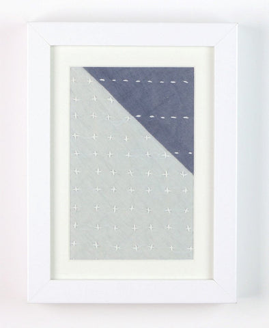 Framed Textile - Grey Corner | Anchal Project