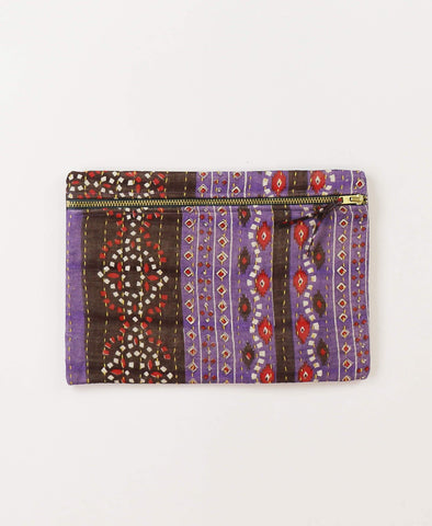 Small Kantha Pouch - Lavender Southwestern | Anchal Project