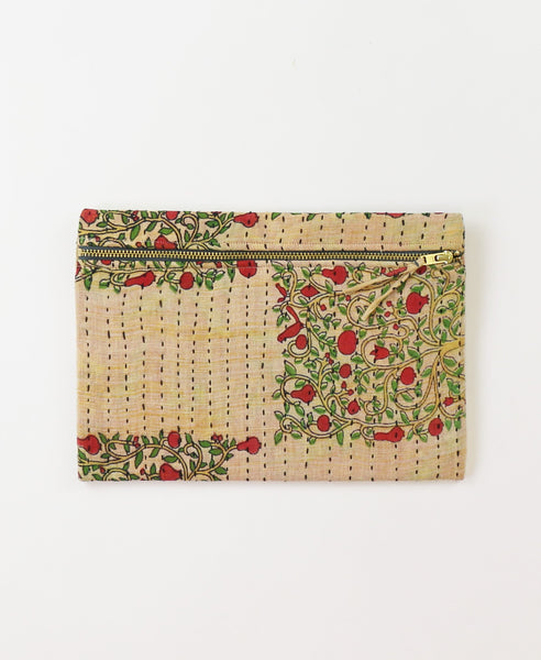 Small Kantha Pouch - Pomegranate Trees | Anchal Project