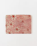 Small Kantha Pouch - Scarlet Daisy | Anchal Project