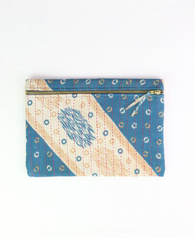 Small Kantha Pouch - Ivory Circles | Anchal Project