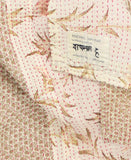 Small Kantha Throw Quilt - Blush Lillies | Anchal Project