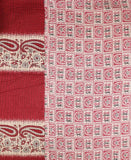Small Kantha Throw Quilt - Crimson Temple | Anchal Project