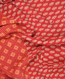 Small Kantha Quilt - Red with Orange Check | Anchal Project