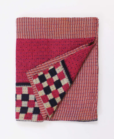 Small Kantha Throw Quilt - No. 190223