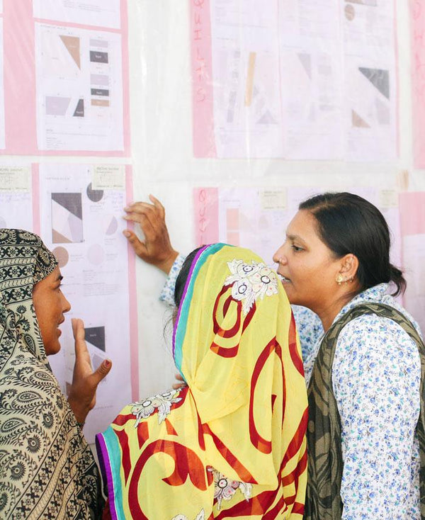 Anchal artisans learning math during education workshop