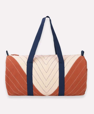 Triangle Weekender Travel Bag- Rust | Anchal Project