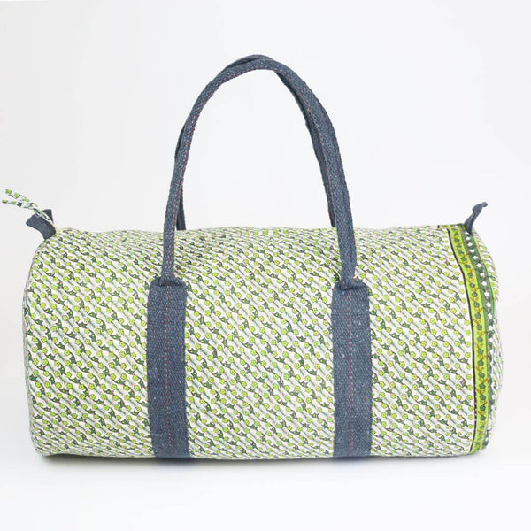 Weekender Travel Bag - Lime Green Wildflowers | Anchal Project