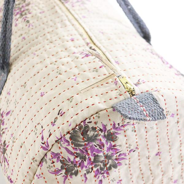 Weekender Travel Bag - Vintage Gray Lavender | Anchal Project