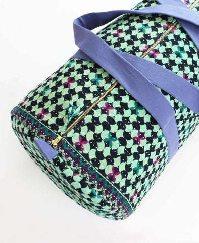 Weekender Travel Bag -  Sea Foam Tile | Anchal Project