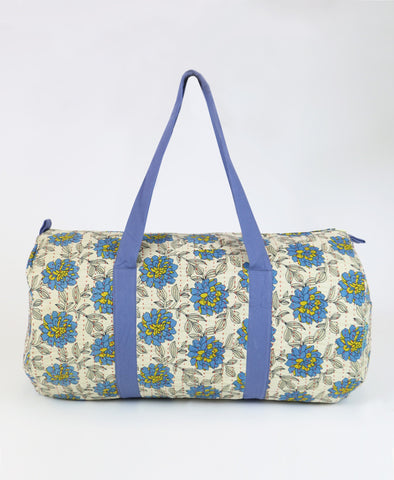 Weekender Travel Bag - Sky Blue Aster | Anchal Project
